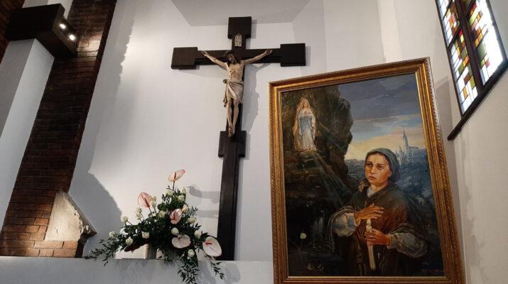 Poświęcenie kaplicy i obrazu św. Bernadetty Soubirous